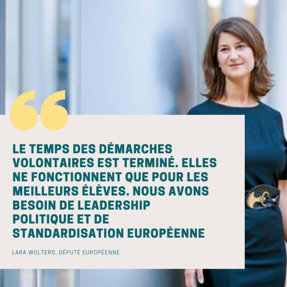 Données extra-financières : citation Lara Wolters, député européenne