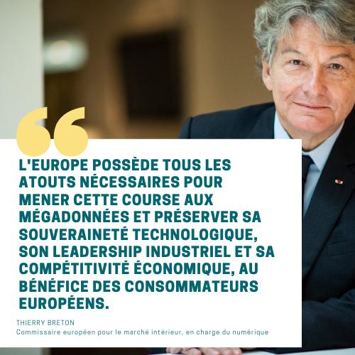 Avenir numérique de l'Europe : citation de Thierry Breton